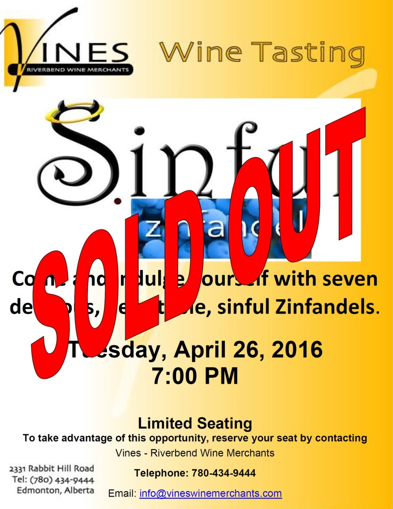 Sinful Zins-Sold Out