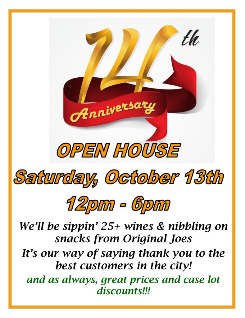 14th Anniversary Open House