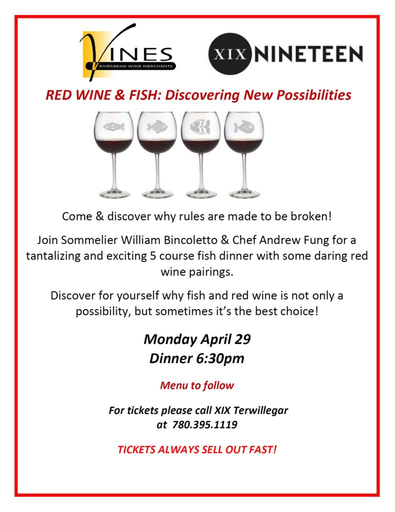 red wine & fish poster