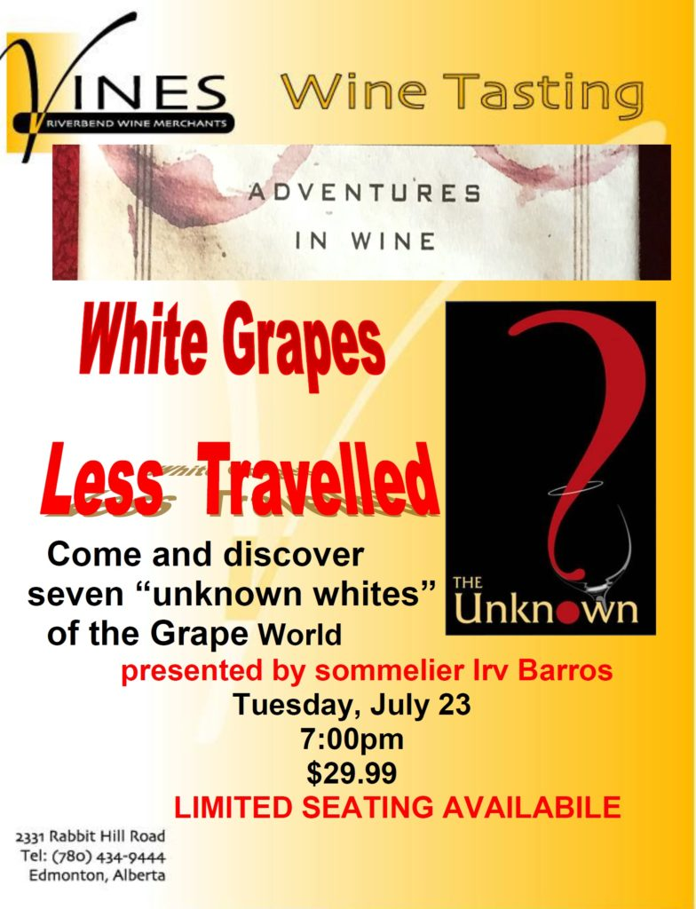 White Grapes Less Travelled 2019